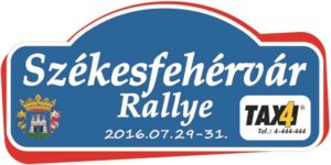 Székesfehérvár Rallye 2016 rallyetábla